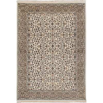One-of-a-Kind Claribel Hand-Knotted Cream Area Rug