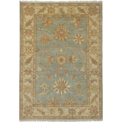 One-of-a-Kind Li Hand-Knotted Light Blue Area Rug