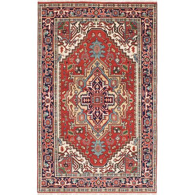 Briggs Hand-Knotted Rectangle Oriental Dark Copper Area Rug