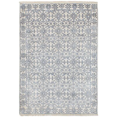 One-of-a-Kind Daliah Hand-Knotted Cream Area Rug