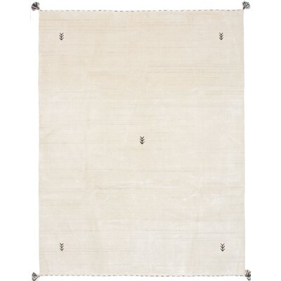 Campos Hand-Knotted Cream Area Rug