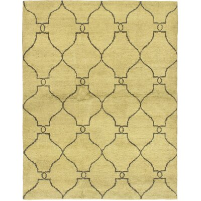One-of-a-Kind Adorno Hand-Knotted Cream Area Rug
