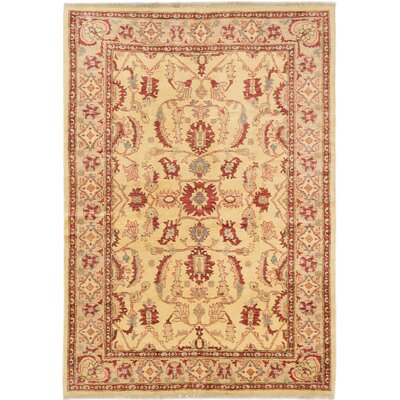 One-of-a-Kind Charlena Hand-Knotted Light Yellow Area Rug