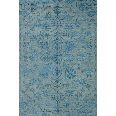 One-of-a-Kind Dafne Hand-Knotted Light Blue Area Rug