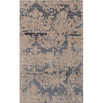 One-of-a-Kind Poplin Hand-Knotted Tan Area Rug