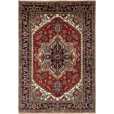 One-of-a-Kind Briggs Hand-Knotted Dark Burgundy/Dark Navy Area Rug