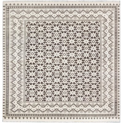 Royal Ushak Hand-Knotted Black/Cream Area Rug