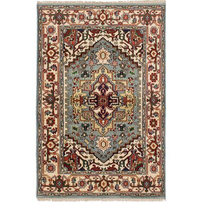 One-of-a-Kind Briggs Hand-Knotted Cream/Gray Area Rug
