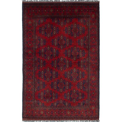 One-of-a-Kind Bouldercombe Hand-Knotted Rectangle Oriental Red Area Rug
