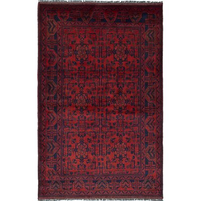 One-of-a-Kind Bouldercombe Hand-Knotted Rectangle Red Area Rug
