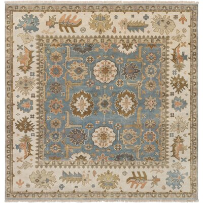 Li Hand-Knotted Oriental Light Blue Area Rug