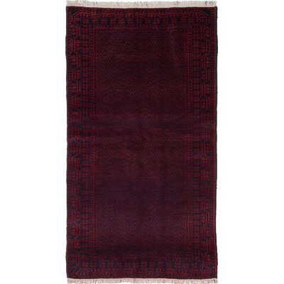 Evonna Hand-Knotted Red Area Rug