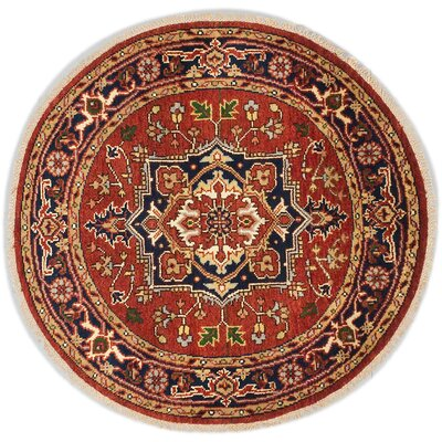 One-of-a-Kind Briggs Hand-Knotted Round Copper Area Rug