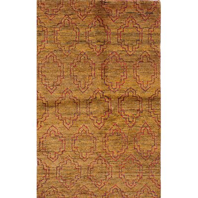 One-of-a-Kind Fabian Hand-Knotted Light Brown Area Rug