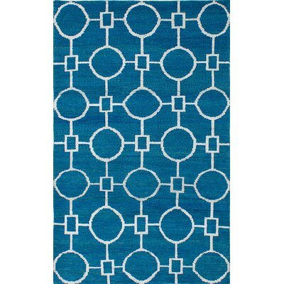 One-of-a-Kind Eduardo Hand-Knotted Blue Area Rug