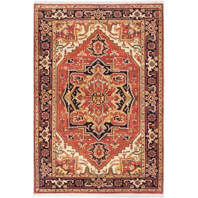 One-of-a-Kind Briggs Hand-Knotted Copper Area Rug