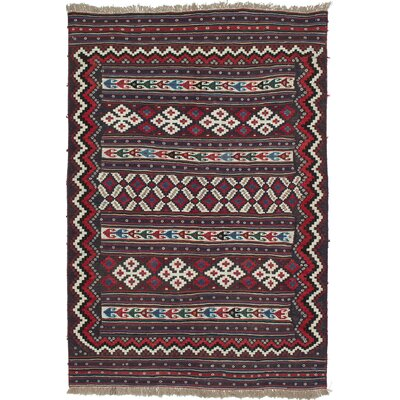 Flinsch Hand-Woven Cream/Red Area Rug