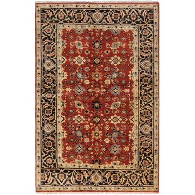 One-of-a-Kind Briggs Traditional Hand-Knotted Rectangle Dark Copper Wool Area Rug