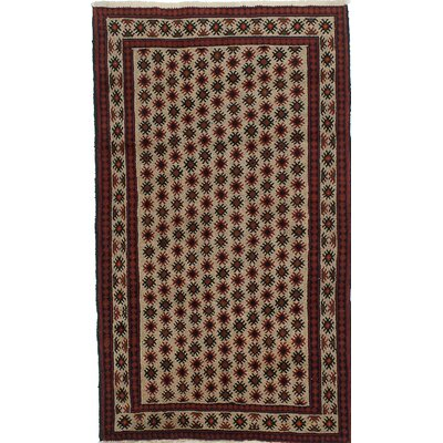 Finest Baluch Wool Hand-Knotted Ivory Area Rug