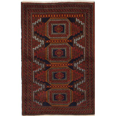 One-of-a-Kind Finest Baluch Wool Hand-Knotted Light Red Area Rug