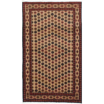One-of-a-Kind Finest Baluch Wool Hand-Knotted Beige Area Rug