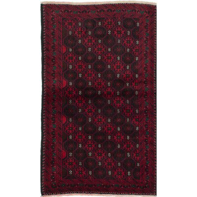 One-of-a-Kind Finest Baluch Wool Hand-Knotted Dark Brown/Red Area Rug