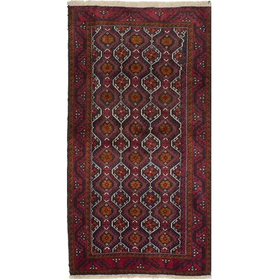 Finest Baluch Wool Hand-Knotted Brown/Red Area Rug