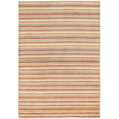 Luribaft Gabbeh Riz Hand-Knotted Copper/Cream/Brown Area Rug