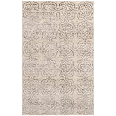 Dearth Hand-Knotted Beige/Olive Area Rug