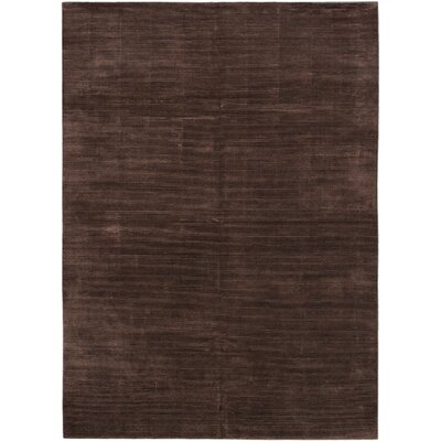 Don Hand-Knotted Dark Brown Area Rug