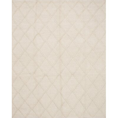 Maui Braided Handmade Cream Area Rug Rug Size: 82 x 101