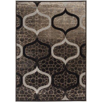 Vincenzo Brown/Gray Area Rug Rug Size: 53 x 73