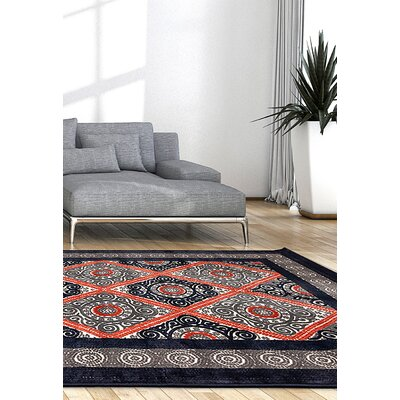 Kimberly Copper/Gray Area Rug Rug Size: 53 x 76