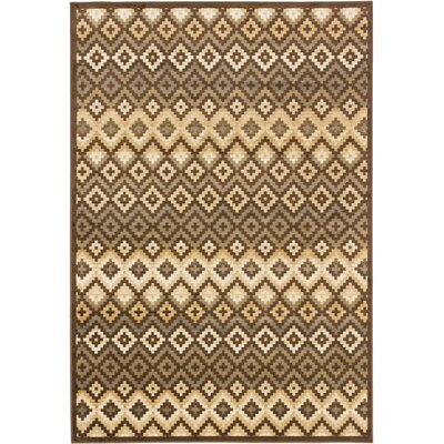 Nichols Dark Brown Area Rug