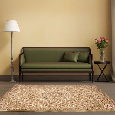 Casen Emerald green/Brown Area Rug Rug Size: 311 x 53