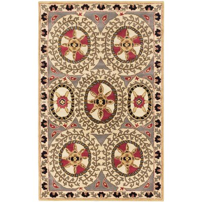 Jefferson Hand-Tufted Cream/Gray Area Rug
