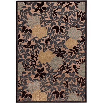 Corsham Brown/Gray/Ivory Area Rug Rug Size: 53 x 76