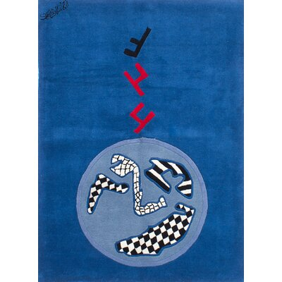 Althoff Abstract Art Hand-Tufted Blue/Black/Red Area Rug