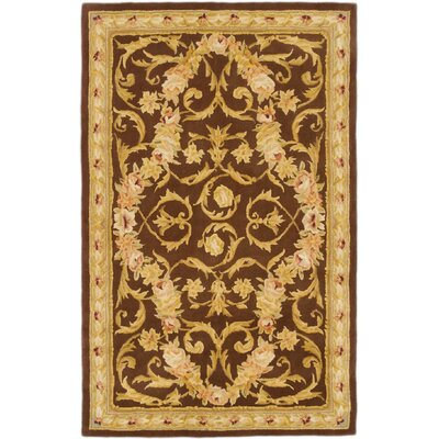 Inny Hand-Tufted Brown Area Rug Rug Size: 36 x 56