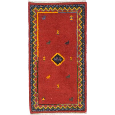 Jaidyn Hand-Knotted Red Area Rug