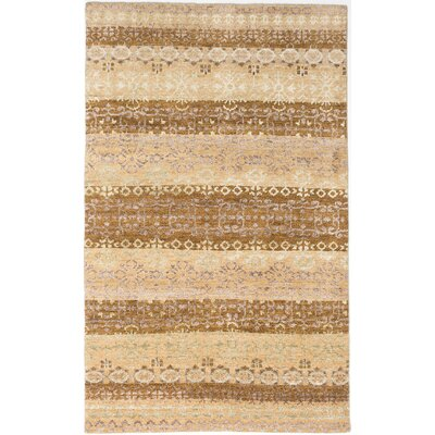 Houston Hand-Knotted Beige/Brown Area Rug