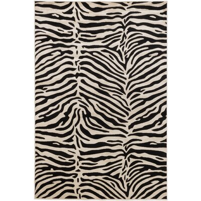 Vincenzo Black/Cream Area Rug Rug Size: 710 x 102