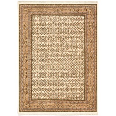 Aedan Hand-Knotted Cream/Brown Area Rug