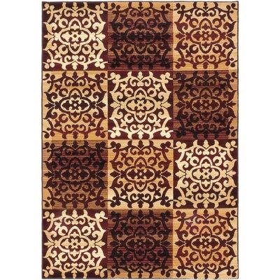 Brundrett Burgundy/Ivory Area Rug Rug Size: 311 x 53