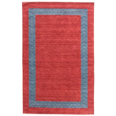 Remy Hand-Knotted Red Area Rug Rug Size: 5 x 8