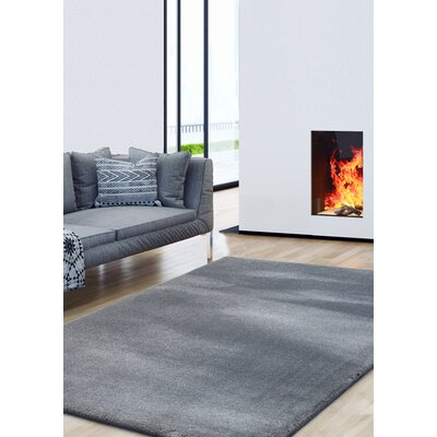 Alvera Shag Gray Area Rug Rug Size: Rectangle 8 x 10