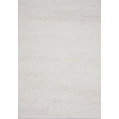 Merritt Shag White Area Rug Rug Size: 53 x 8