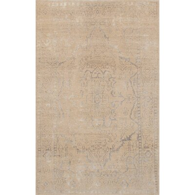 One-of-a-Kind Bonneville Hand-Knotted Beige/Gray Area Rug