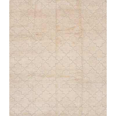 One-of-a-Kind Bonita Hand-Knotted Beige Area Rug