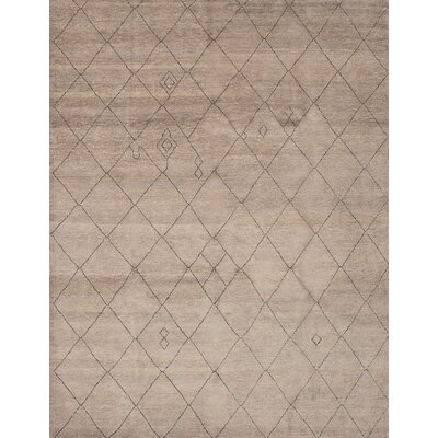 One-of-a-Kind Bridgewater Hand-Knotted Dark Khaki Area Rug